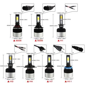 Image 5 - Novsight車ledヘッドライトH7 H4/HB2/9003 H8/H9/H11 HB3/9005 HB4/9006 フォグランプの電球H1 H3 72 ワット 9000LMフォグランプD40