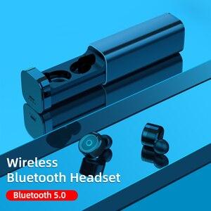 Image 3 - Мини Bluetooth наушники 5,0 + EDR с двойным микрофоном, спортивные водонепроницаемые 3D стереонаушники, гарнитура с автоматическим сопряжением, TWS беспроводные наушники