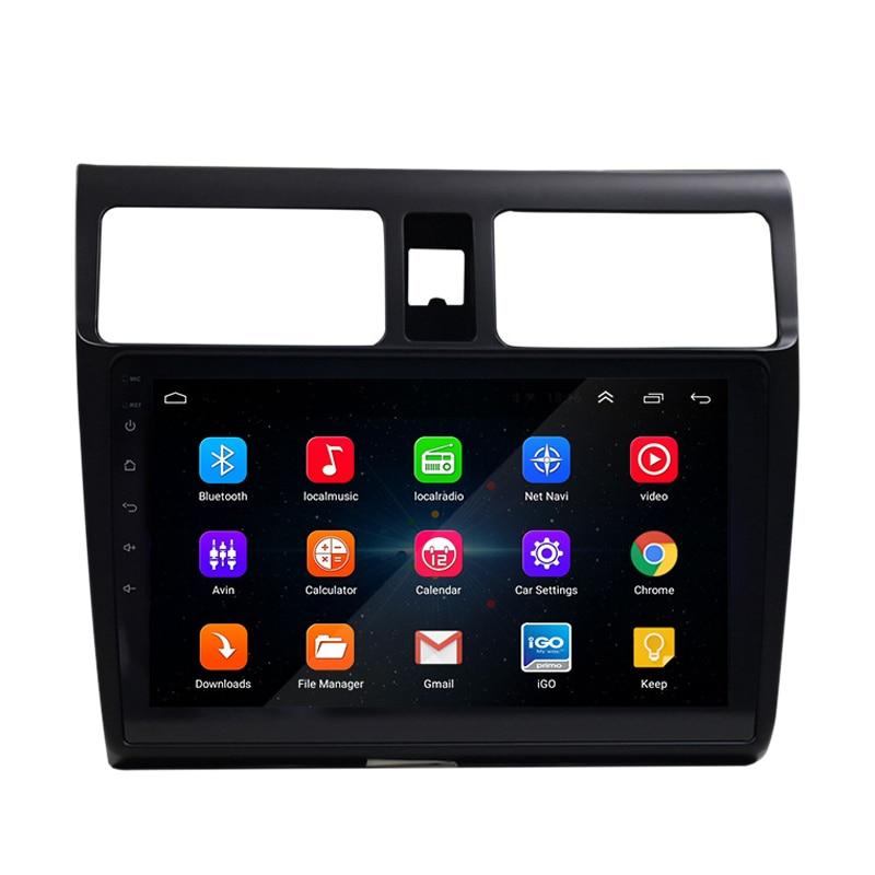 2 Din автомагнитола 9 дюймов Hd Автомобильный Mp5 мультимедийный плеер Android 8,1 автомагнитола Gps навигация Wifi Bluetooth для Suzuki Swift 2005-20