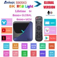 2020 TV box A95X F3 Android 9.0 Amlogic S905X3 TV BOX HD live 4K 8K Youtube Netflix wifi 4GB64GB RGB Light Lifetime TV Box