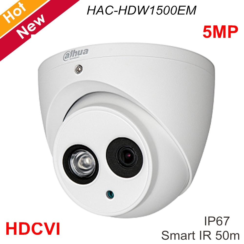 Dahua Security Camera Lite Plus 5MP HDCVI IR Eyeball Camera HAC HDW1500EM 3.6mm 2.8mm 6mm Optional Aluminium Case for IP Systems|Surveillance Cameras| |  - title=