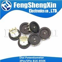10 шт. 3-контактный настраиваемый потенциометр B102 B103 B203 B503 B202 B502 B104 B1K B10K B20K B50K 16*2 потенциометр громкости