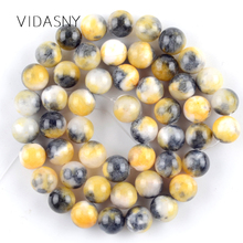 Yellow Persian Jades Natural Round Stone Beads for Jewelry Marking 6 8 10mm Charm Spacer Loose Beads Diy Bracelet Necklace 15'' natural fuchsia persian jades stone round loose beads for jewelry making 6 10mm spacer beads fit diy bracelet necklace 15