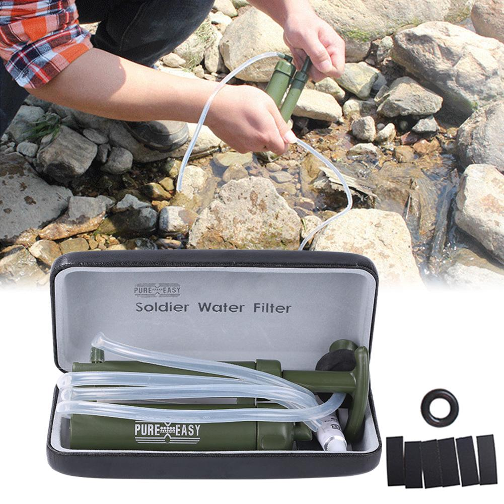 Free Shipping Pure Easy Outdoor Hiking Camping Water Filter Purifier 0.1 Micron 2000L Portable Emergency Survival Equipment