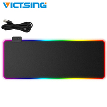 VicTsing/игровой коврик для мыши с RGB подсветкой, Красочный светодиодный коврик для мыши с подсветкой, 14 режимов, 7 цветов, Мягкий Нескользящий Коврик Для Мыши для ПК и ноутбука
