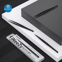 QianLi-Pinzas de acero inoxidable no magnéticas hechas a mano, herramienta de reparación de placa base para iPhone