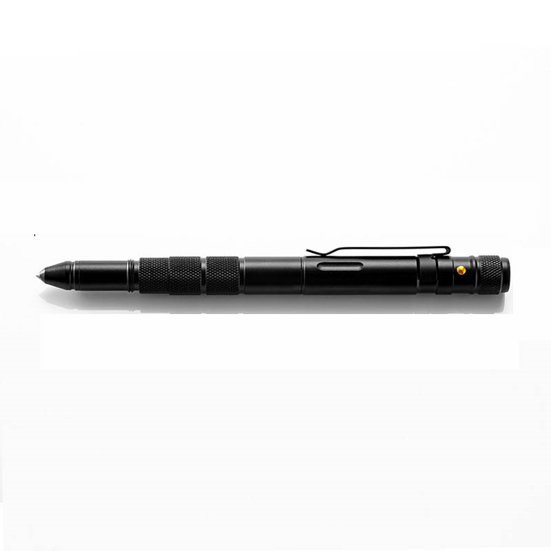 STRIKEPEN BLACK Tactical Pen Steel Alloy LED Flashlight Multi-function Tool 2