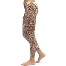 Модные брендовые женские леггинсы Henna легинсы с цифровым принтом, эластичные сексуальные леггинсы на бедрах, тренажерные залы, одежда для фитнеса, женские штаны