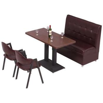 Tea shop coffee brown a-shaped chair iron simple restaurant burger snack fast food barbecue  dining table