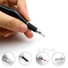 1pcs Microblading Tebori Pen PCD Microblade Needle Holder Eyebrow Permanent Makeup Manual Tattoo Pen Stainless  Steel