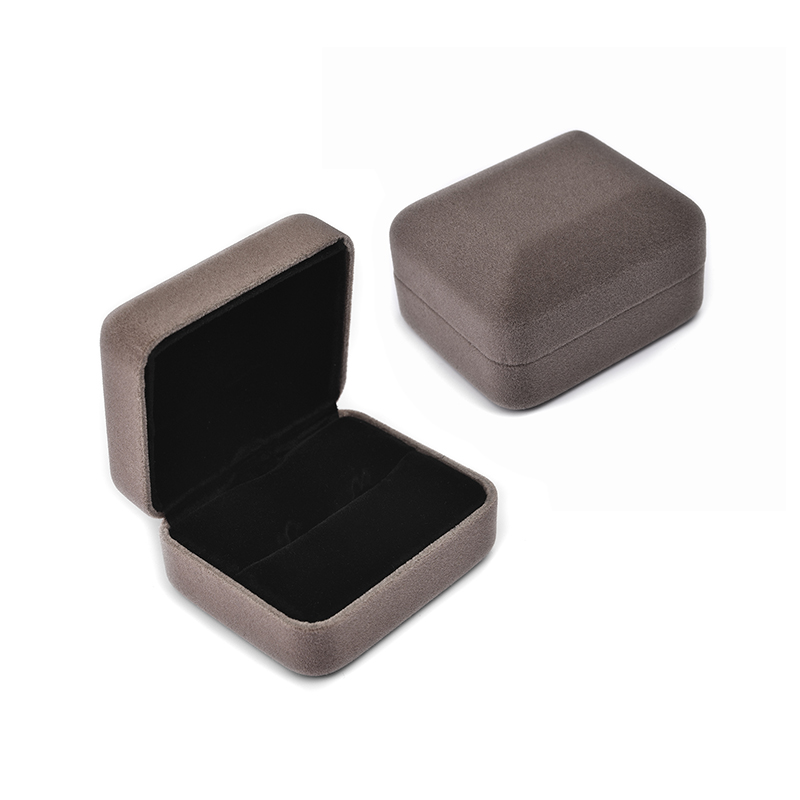 Flannel Jewelry Box For Rings Earring Necklace Set Display Square Packaging Rangement Gift Boxes For Jewellery