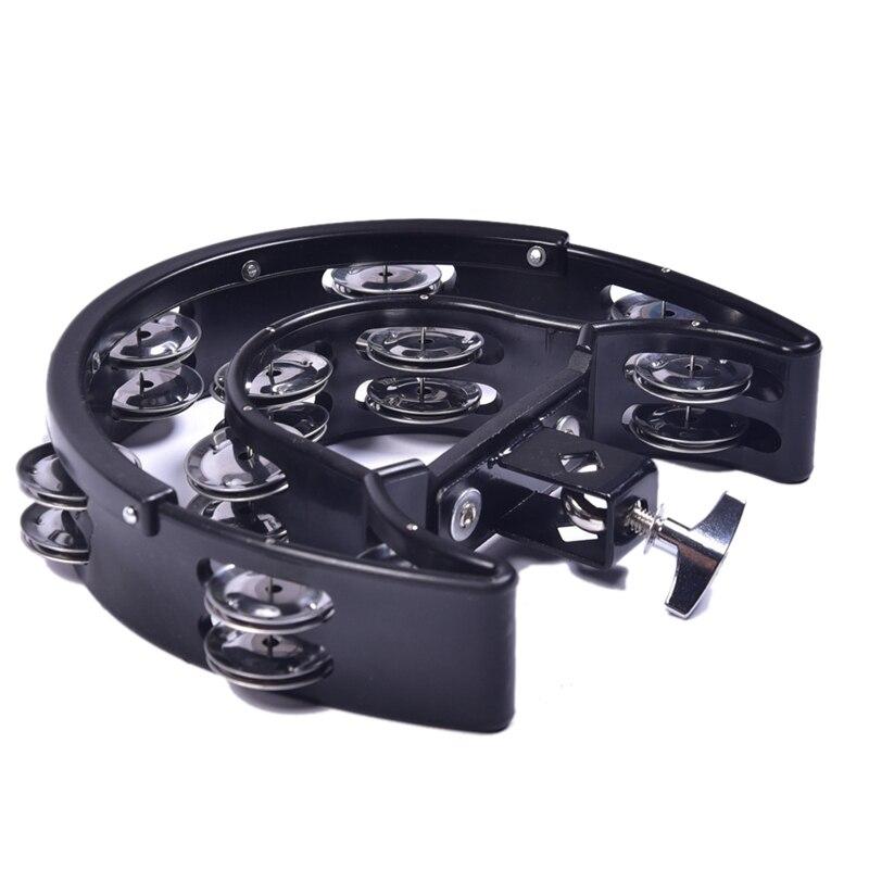 Double Ring Moon Tambourine Tambourine Jazz Drum Rhythm Tamborine Percussion Instrument Accessories