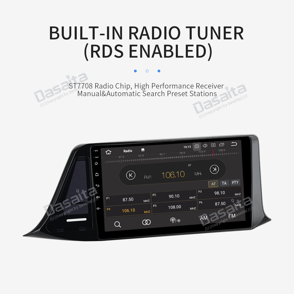"Sale Dasaita 9"" IPS Android 9.0 Car Multimedia Player for Toyota C-HR CHR RHD GPS 2016 2017 2018  Navigation Bluetooth 1080P Video 13"