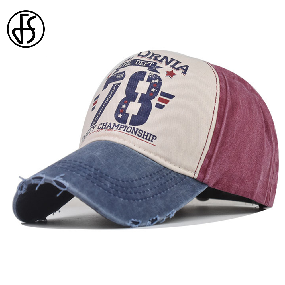 FS 2021 Classic British Style Winter Women Men Hats Number Print Washed Vintage Baseball Cap Streetwear Hip Hop Worn Denim Hat