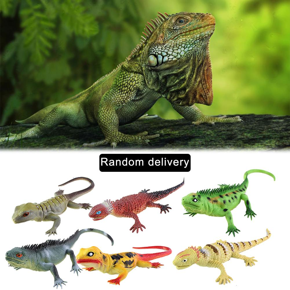 Simulation Lizards Reptile Simulation Plastic Forest Animal Model Toys Sound Animal Model Crocodile Funny Toy With Whistle