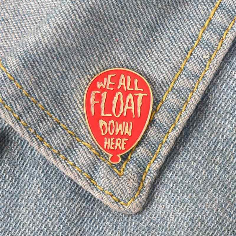 אדום בלון אמייל סיכת תג סיכת עבור ג 'ינס ג' ינס חולצה תיק תרמיל סיכות סרט אימה דש פין תכשיטי מתנה