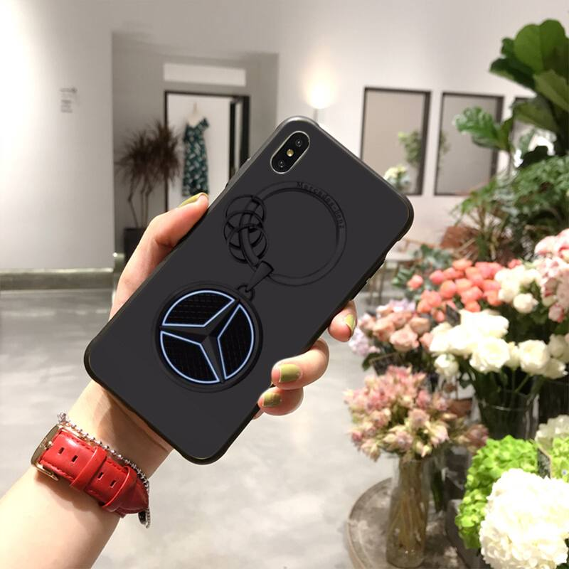 NBDRUICAI AMG Mercedes Luxury cars DIY Painted Bling Phone Case for iPhone 11 pro XS MAX 8 7 6 6S Plus X 5S SE XR case