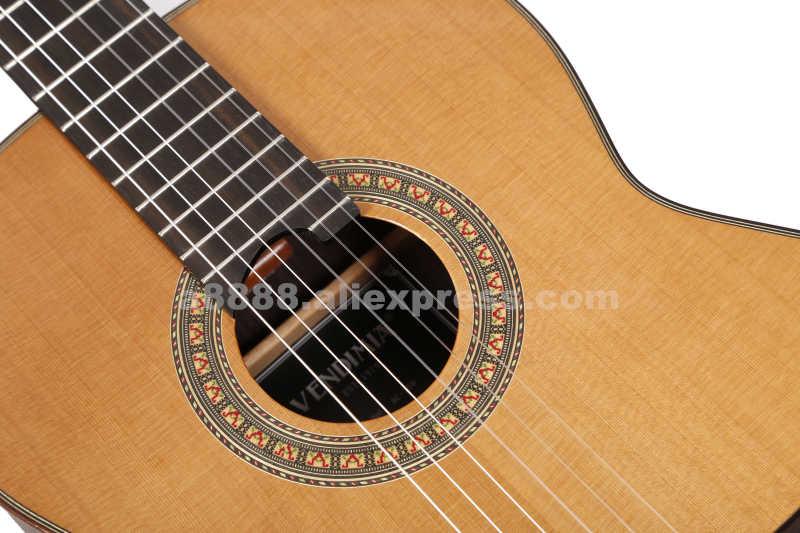 جيتار صوتي إسباني مصنوع يدويًا مقاس 39 بوصة ، من VENDIMIA مصنوع من خشب الأرز الصلب/خشب الورد الصلب ، جيتار كلاسيكي احترافي متين بالكامل