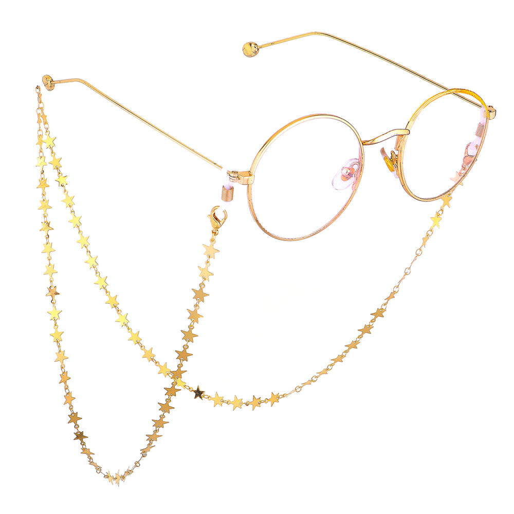 2019 New Fashion Star Moon Reading Glasses Metal Eye Wear Accessories Sunglasses Necklace  Eyeglass Lanyard  Glasses Chain