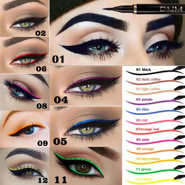 1PCs Matte Eyeliner Waterproof Colorful Liquid Eye Liner Pen Fast Dry Long Lasting Thin Head Party Beauty Makeup Cosmetic Tools 1