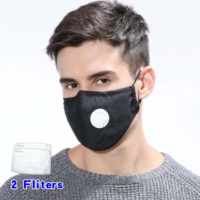 Anti Pollution Mask Dust Respirator Washable Reusable Masks Cotton Unisex Mouth Muffle for Allergy/Asthma/Travel/ Cycling 2
