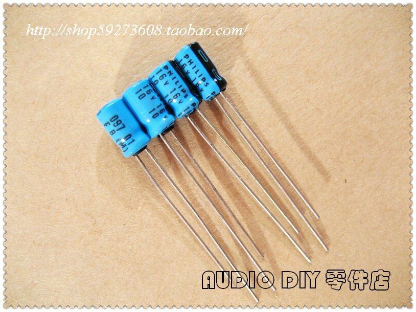 30PCS/50PCS Holland BC Early Standard 097 Series 10uF/16V Small Volume Electrolytic Capacitor Free Shipping