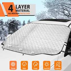 Car Windshield Snow Cover Frost Guard Winter Windshield Snow Ice Cover Magnetic Edges Car Snow Windshield Protector for Most Car