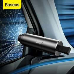 BASEUS Keselamatan Mobil Palu Auto Darurat Pemecah Kaca Jendela Holder Life-Saving Escape Alat