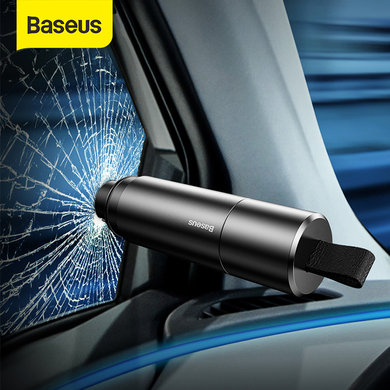 Baseus Car Safety Hammer Auto Emergency Glass Breaker Window Seat Belt Cutter Life-Saving Escape Tool