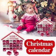 Wooden Christmas Advent Calendar With 25 Drawers For Decoration An Exquisite And Beautiful Gift Quick Delivery