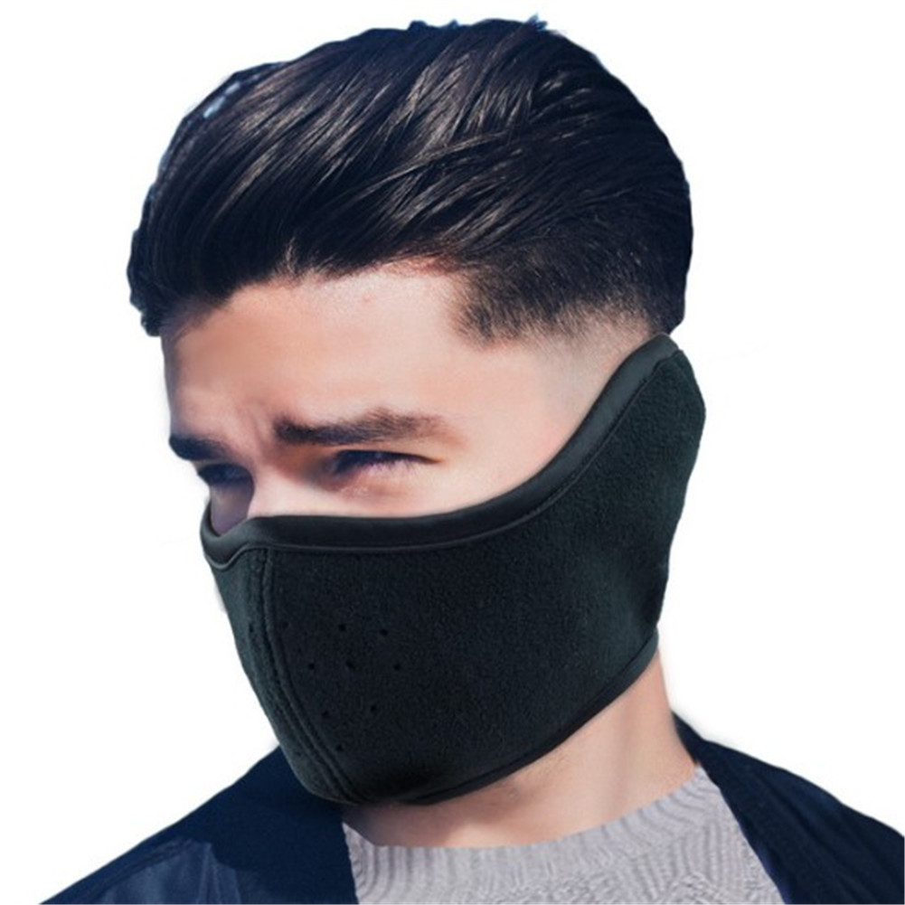 Black Unisex Female Male Face Mask Breathable Mouth Mask Anti-dust Pollution Masks Cute Masker Unisex Ear Earmuffs Woman Man