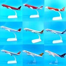 Modèle davion en métal moulé, avion, jouets à collectionner, pour enfants, à léchelle 1:400, 16CM, Airbus A320, lignes aériennes A320