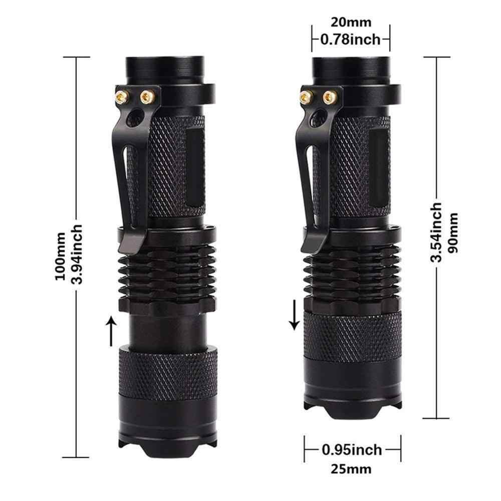 Đèn LED Đèn Pin Uv Tia Cực Tím Đèn Pin Với Chức Năng Zoom Mini UV Đen Ánh Sáng Thú Cưng Nước Tiểu Vết Bẩn Dò Bọ Cạp Săn Bắn