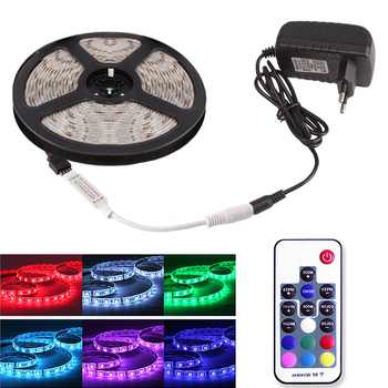 RGB LED Strip SMD 5050 Waterproof DC 12V Ribbon LED Light Diode Tape 5M 60 LEDs/m + WiFi / RF Remote Controller + Power Adapter - DISCOUNT ITEM  25% OFF All Category
