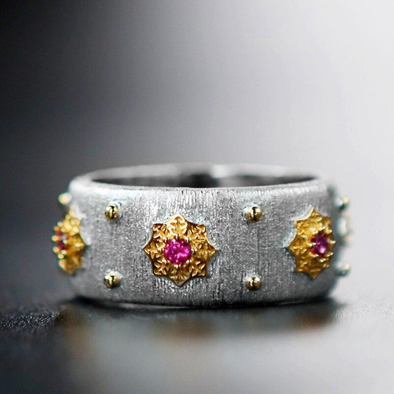 925 argent Zircon anneau argent barre 925 bijoux pour femmes cour européenne style vintage