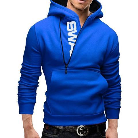 2019 New Arrivals Autumn Fashion men Casual Slim letter printing head side zipper Cashmere sweater male Outerwear tops Multan