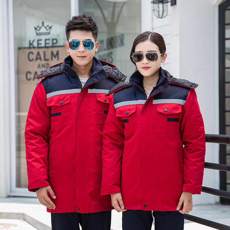 Jaqueta de algodão quente de inverno com