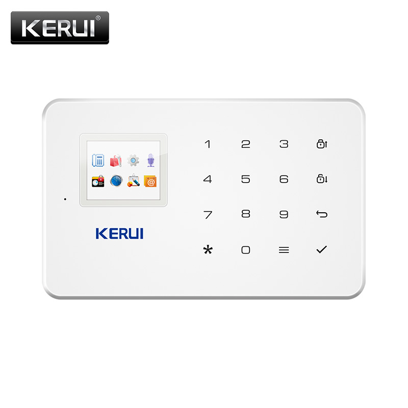 KERUI G18 Alarm System Black Wireless GSM Home Security Burglar Alarm Syatem Sensor Kit Android IOS Phone APP Remote Control image