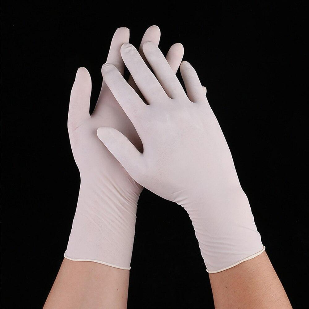 1/2/10 шт белые одноразовые эластичные латексные перчатки промышленные перчатки для экзамена бытовые чистящие кухонные средства для мытья посуды|Бытовые перчатки|   | АлиЭкспресс
