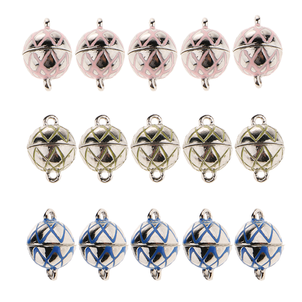 5pcs Round Ball Magnetic Clasps For Necklace Bracelet Repair Replace Clasp