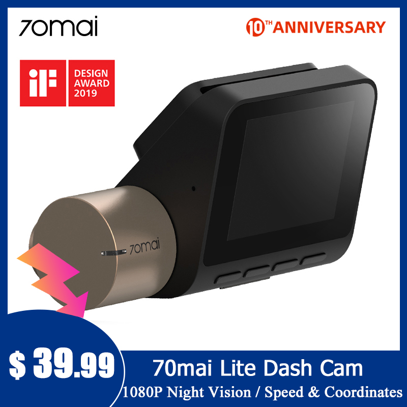 70mai Dash Cam Lite 1080P Speed Coordinates GPS Module 70 MAI Lite Car DVR Camera Wifi title=