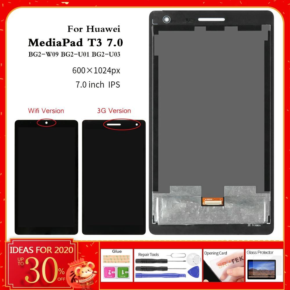 For Huawei MediaPad T3 7 BG2-W09 Display BG2-U01 BG2-U03 LCD Display Matrix Touch Screen Panel Digitizer Tablet Assembly 3G Wifi
