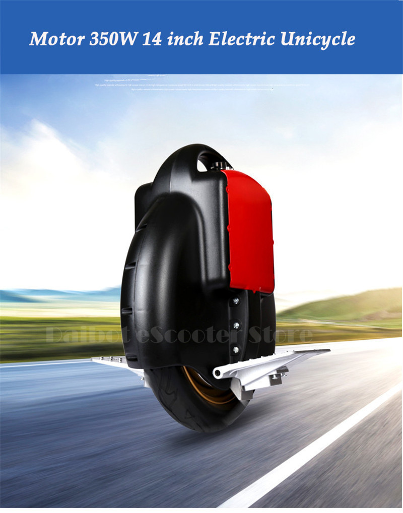 Daibot Portable Electric Scooter One Wheel Self Balancing Scooters Buletooth Speaker 14 Inch 350W 60V Electric Unicycle Scooter  (44)