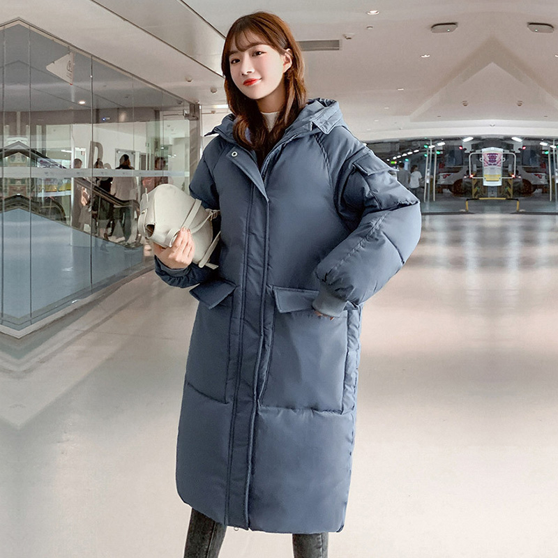 Fashion Solid Long Thick Winter Jacket Women Warm Loose Hooded Down Parkas Full Sleeve With Big Pocket Ladies Oversize Coats Women Women's Clothings Women's Sweaters/Coat cb5feb1b7314637725a2e7: Beige|black|Blue|YELLOW