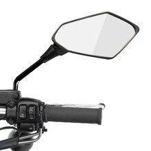 2 шт./пара мотоцикл Зеркало заднего вида скутера e велосипеда зеркала заднего вида задняя сторона выпуклое зеркало 8 мм 10 мм из углеродного волокна