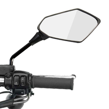 2Pcs/Pair Motorcycle Rearview Mirror Scooter E Bike Rear View Mirrors Back Side Convex Mirror 8mm 10mm Carbon Fiber