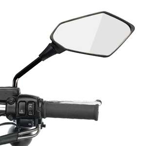 Image 1 - 2Pcs/Pair Motorcycle Rearview Mirror Scooter E Bike Rear View Mirrors Back Side Convex Mirror 8mm 10mm Carbon Fiber
