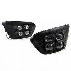 2 piezas LED DRL luz diurna luz antiniebla para Hyundai IX45 para lámpara de luz diurna duradera de Santa Fe
