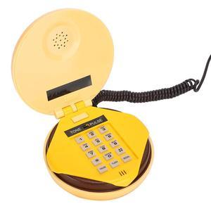 Image 2 - Novelty Emulational Hamburger Telephone Wire Landline Phone Home Decoration Telephones landline phone Brand New