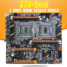 Atermiter x79 cpu dupla placa-mãe lga 2011 4 * ddr3 reg ecc usb3.0 sta3 pci-e 3.0 com placa-mãe de processo